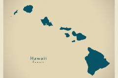 Modern Map - Hawaii USA